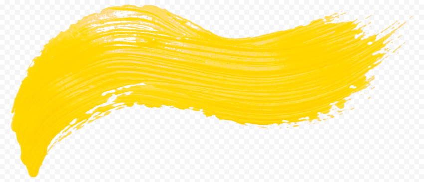 Real Yellow Brush Stroke PNG