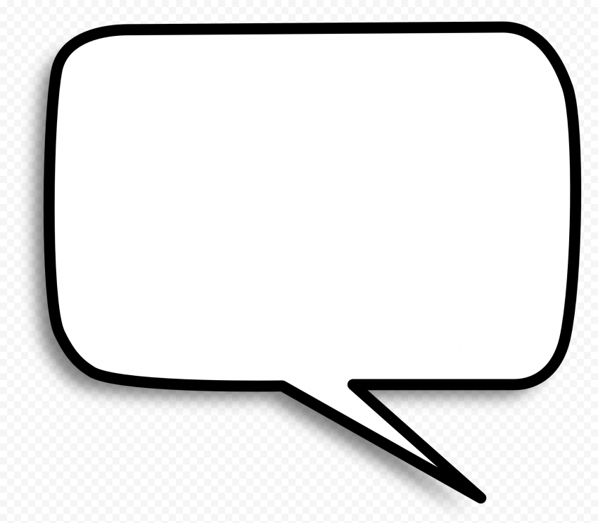Rectangle Empty Outline Cartoon Speech Bubble