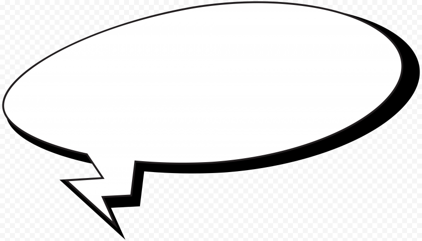 Rectangle Outline Cartoon Thought Bubble Speech