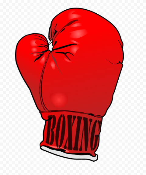 Red Boxing Single Glove Box Fight Cartoon Drawing