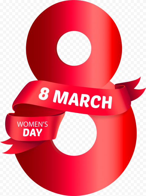Red Happy International Women'S Day 8 March