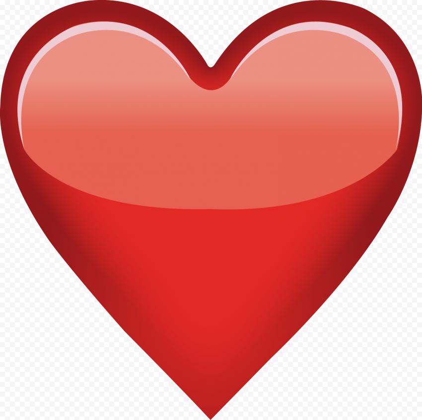 Red Heart Emoji Love Romantic