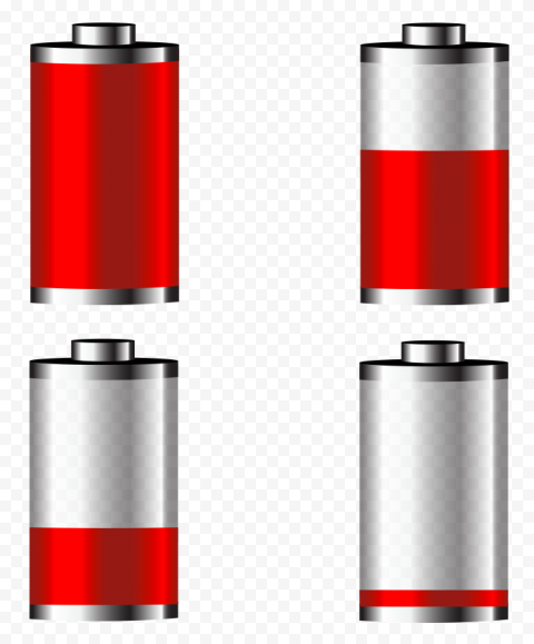 Red Power Battery Icons png