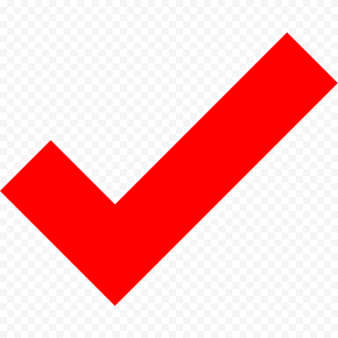 Red Tick Check Mark Icon Symbol Sign PNG