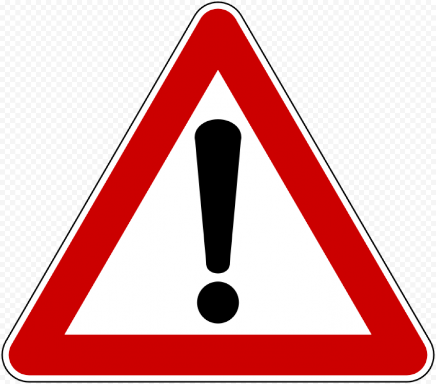 Red Triangle Caution Road Traffic Driving Yield