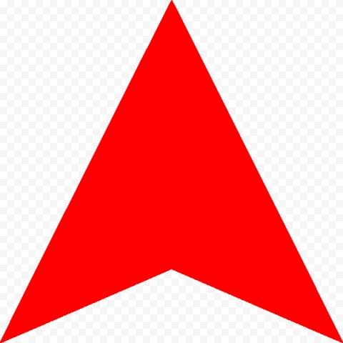 Red Up Head Arrow Flat