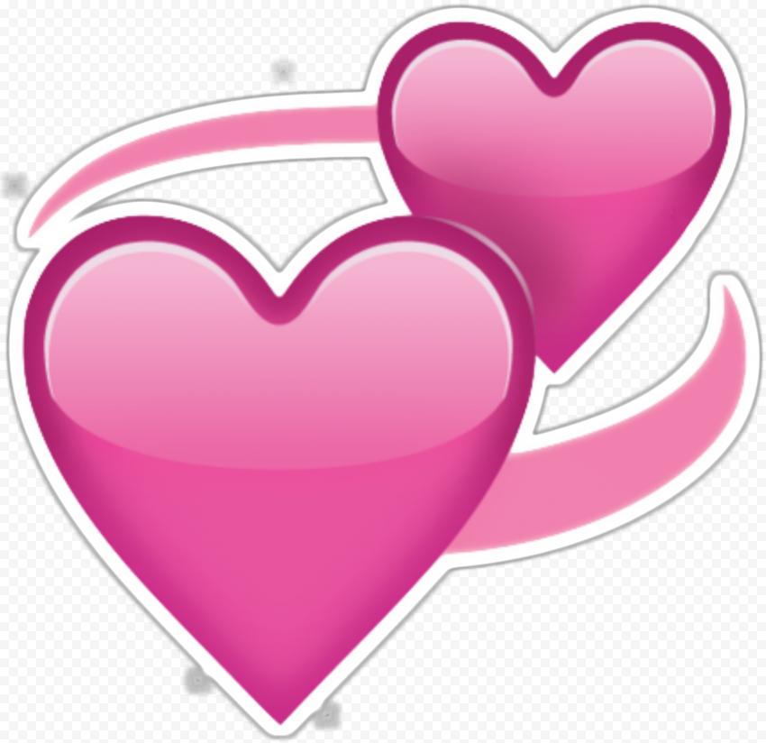 Revolving Hearts Pink Romantic Emoji Sticker