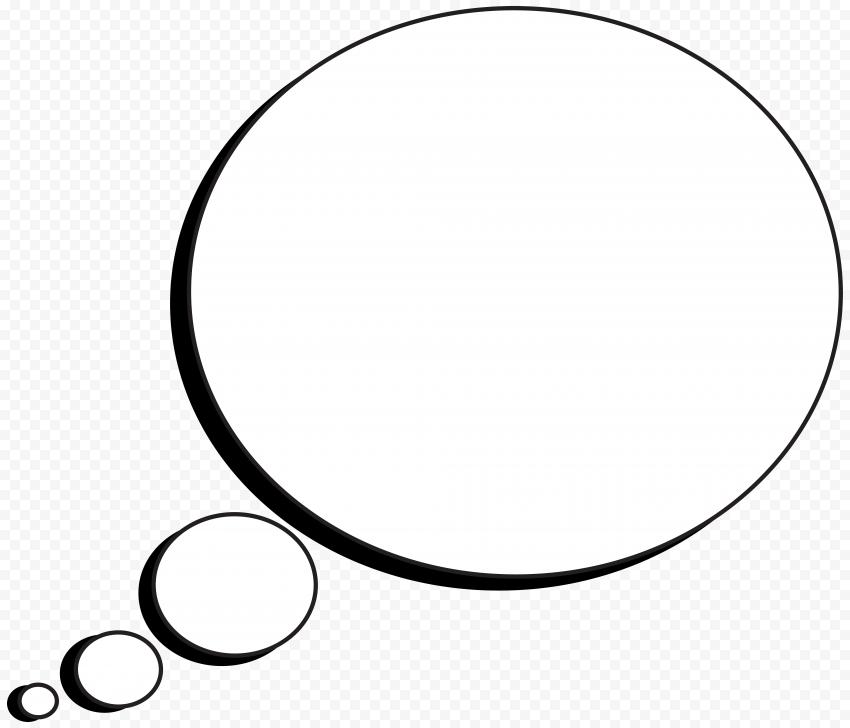 Round Cartoon Thought Bubble Thinking Speech
