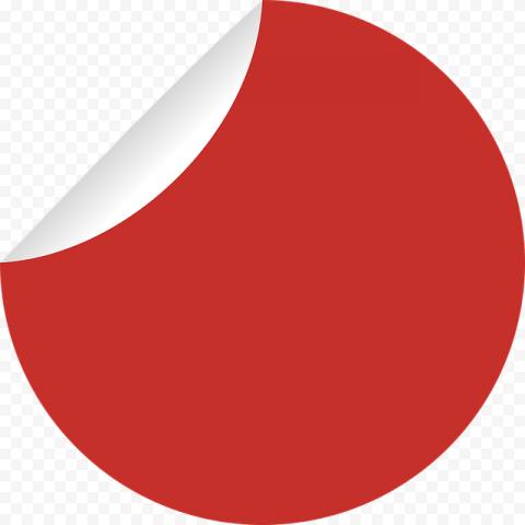 Round Sticker Red Special Price Sale Discount