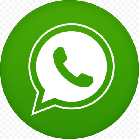 Round WhatsApp logo phone call icon