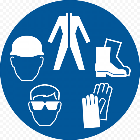 Safety Personal Protective Equipment PPE Clipart