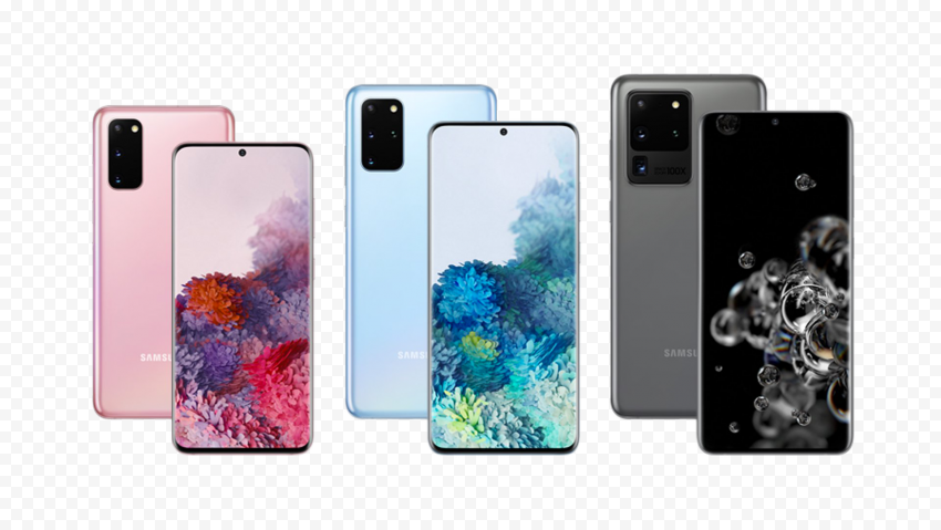 Samsung Galaxy S20 black pink blue
