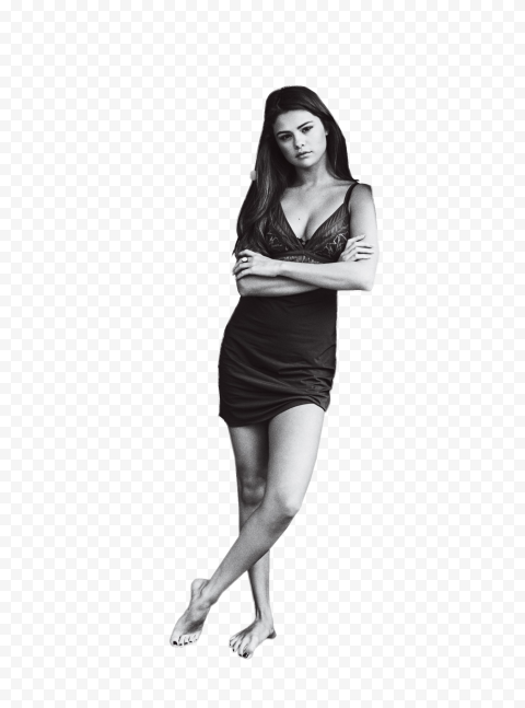 Selena Gomez Black And White Wear Sexy Clothes