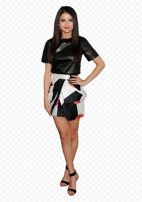 Selena Gomez Wearing  Black Dress