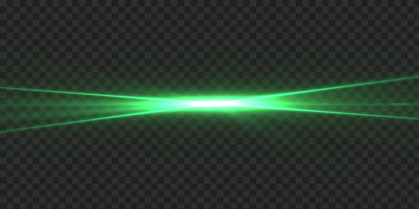 Shining Green Light Flare Effect Transparent PNG