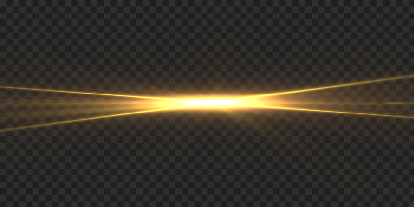 Shining Yellow Light Flare Effect FREE PNG