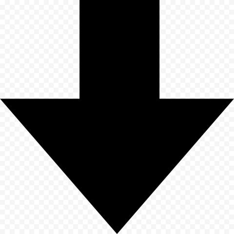 Short Black Down Arrow