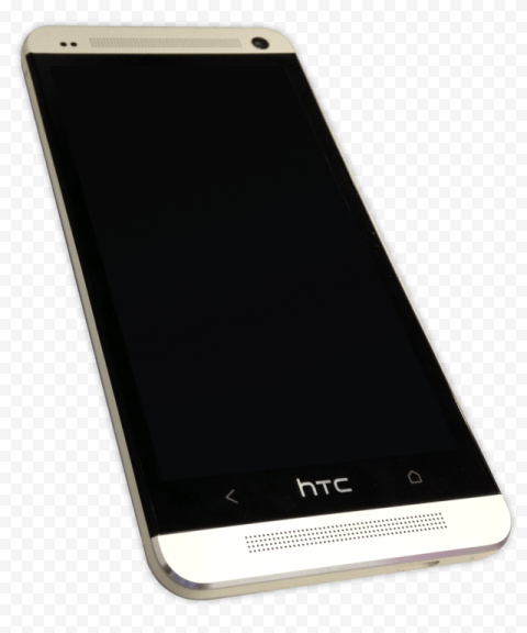 Silver HTC One M7 phone