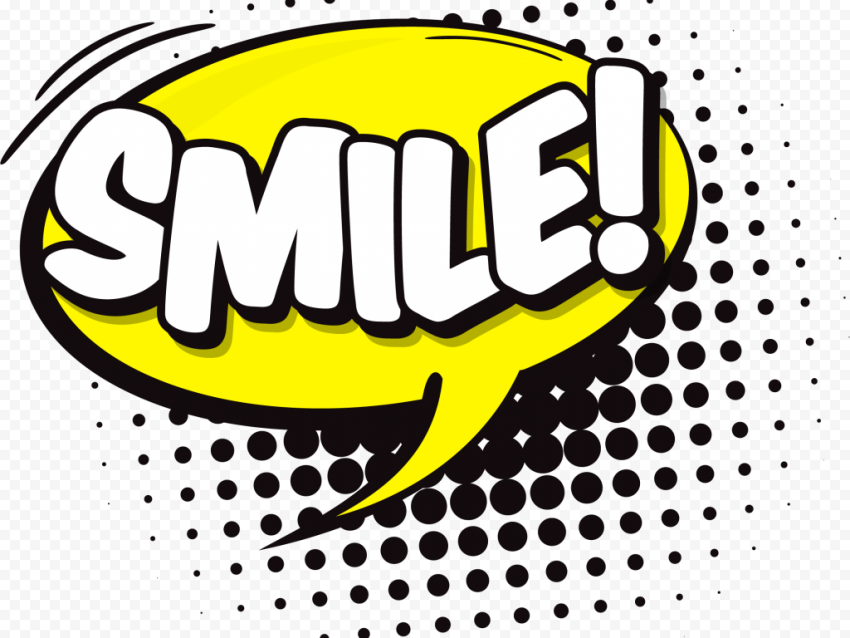 Smile Expression Comic Stickers Pop Art