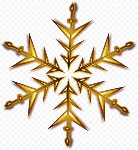 Snow Symbol Christmas Gold Star
