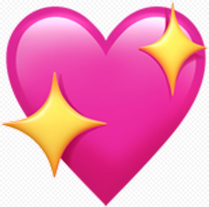Sparkling Heart Love Pink Emoji Romantic