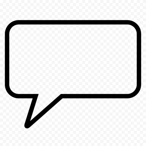 Speech Thought Comic Message Bubble Outline