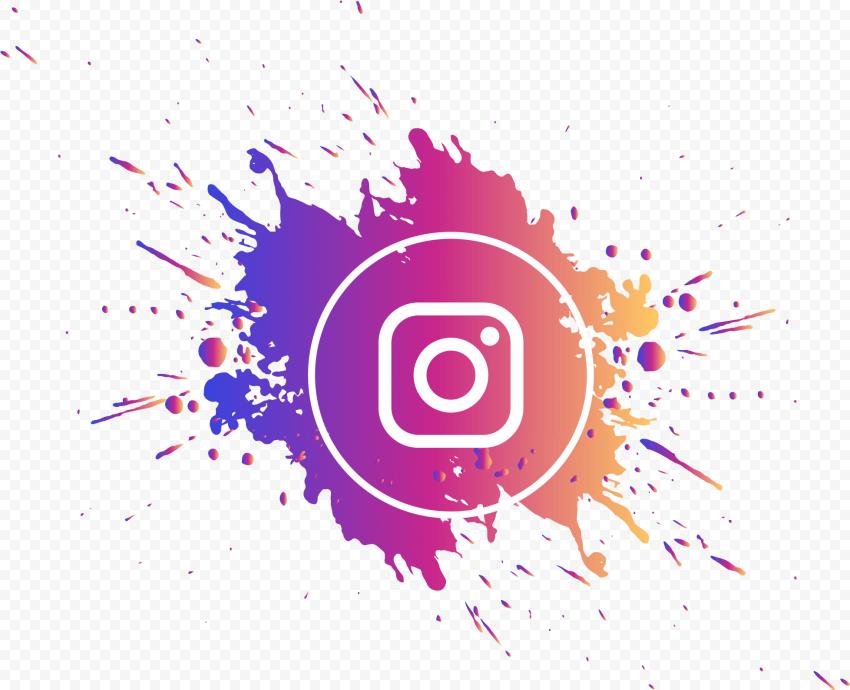 Splash Instagram Logo Circle Gradient Colors