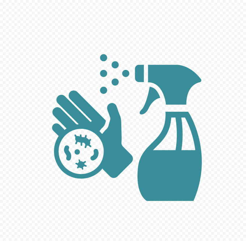 Spray Icon Hygiene Virus Germs Hand Aqua