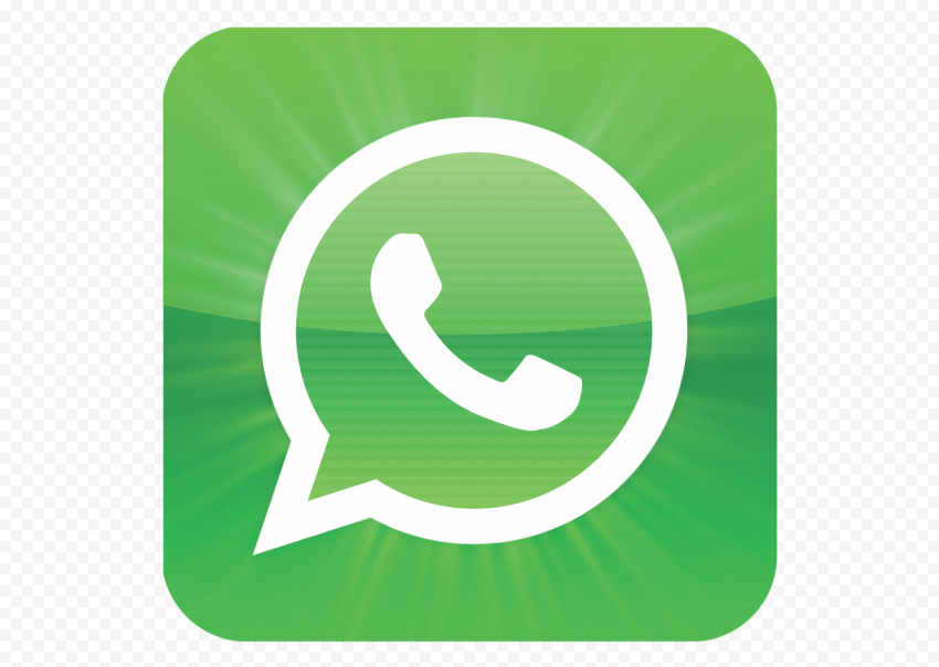 Square Wathsapp Logo Icon Green With Effect