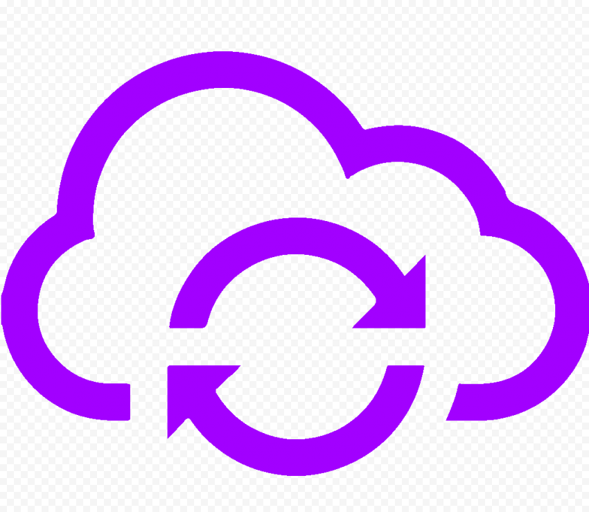 Storage Cloud Hosting Computing Purple Icon HD PNG