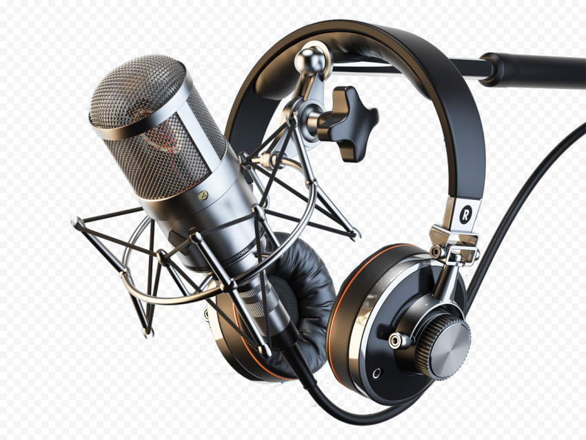 Studio Microphone Mic With Headset PNG IMG