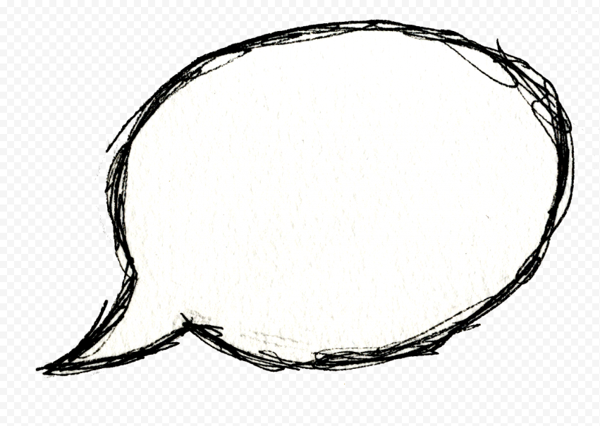 Thought Bubble Hand Drawn Thinking