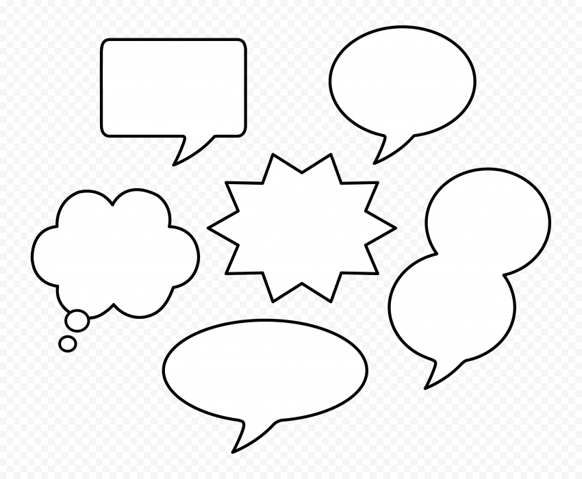 Thought Bubble Thinking Speech Outline Clipart