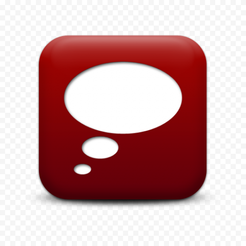 Thought Bubble Thinking Speech Red Icon