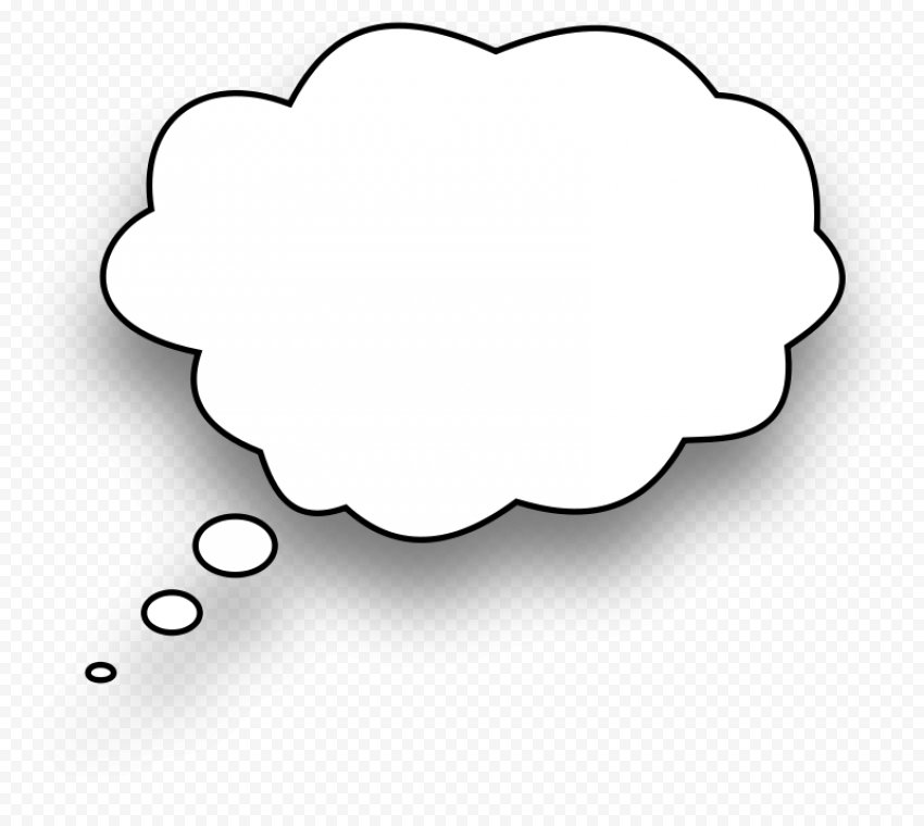 Thought Speech Bubble Blank Dialog Box