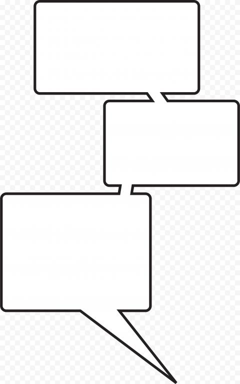 Three Multiple Speech Bubble Thought Comic
