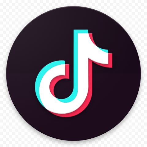 TikTok Circle Round Logo Brand Video Tik Tok