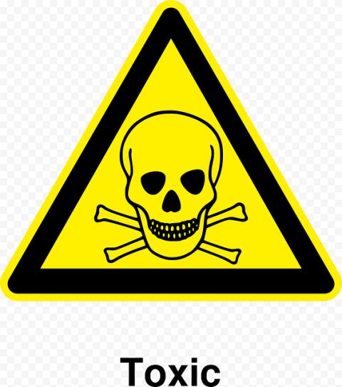 Toxic Hazard Yellow Skull Sign Death Warning
