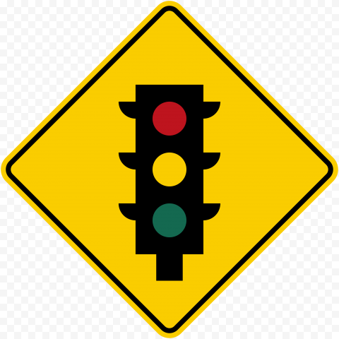 Traffic Light Caution Warning Signage Driving Road