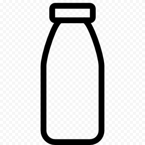 Transparent Black Water Milk Liquid Bottle Icon
