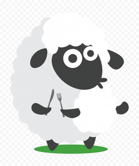 Transparent HD Cartoon Sheep Illustration