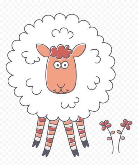 Transparent HD Cute Cartoon Clipart Sheep