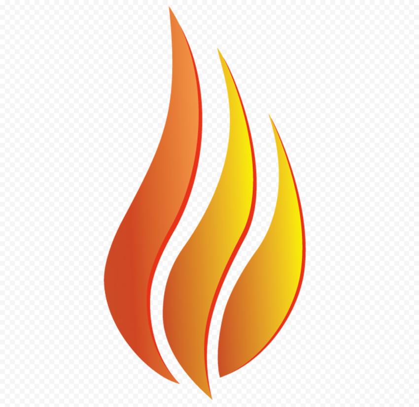 Transparent HD Fire Flame Creative Logo