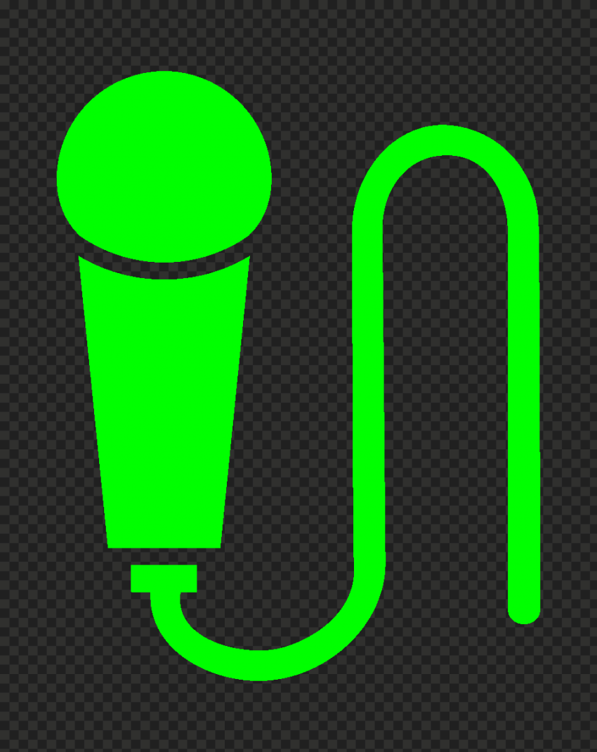 Transparent HD Hand Microphone Mic Green Lime Icon