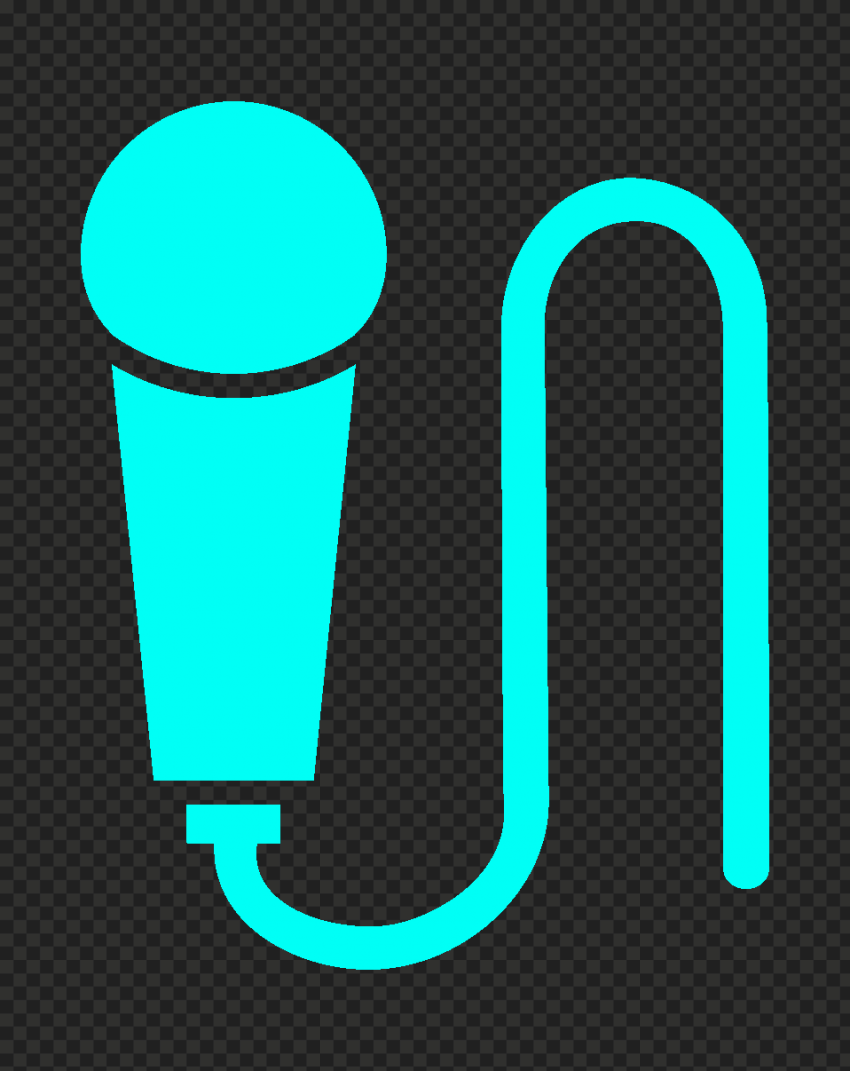 Transparent HD Hand Microphone Mic Light Blue Icon
