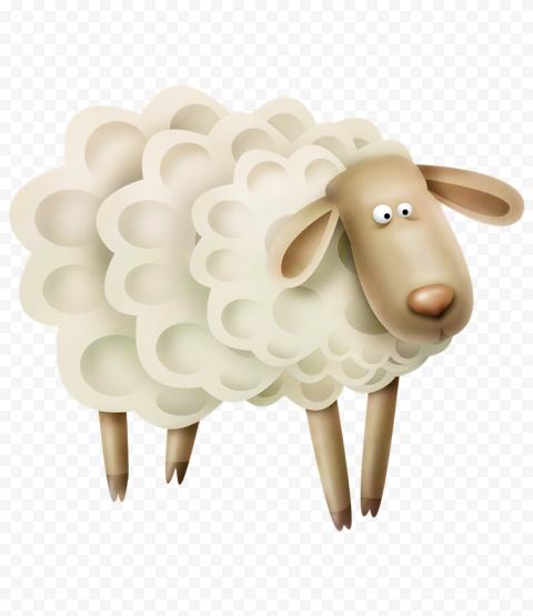 Transparent HD Sheep Cartoon Illustration