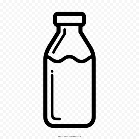 Transparent HD Water Milk Liquid Bottle Black Icon