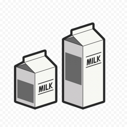 Two Fresh Milk Cartons Boxes Icons PNG