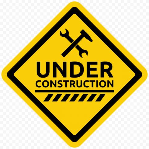 Under Construction Diamond Sign Symbol Yellow