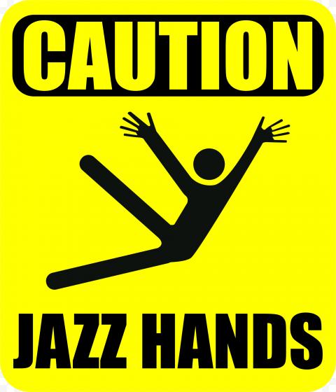 Warning Jazz Hazard Safety Sign Symbol Caution